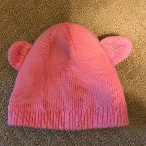 Pink bear-ears 0-3 month Carter's hat